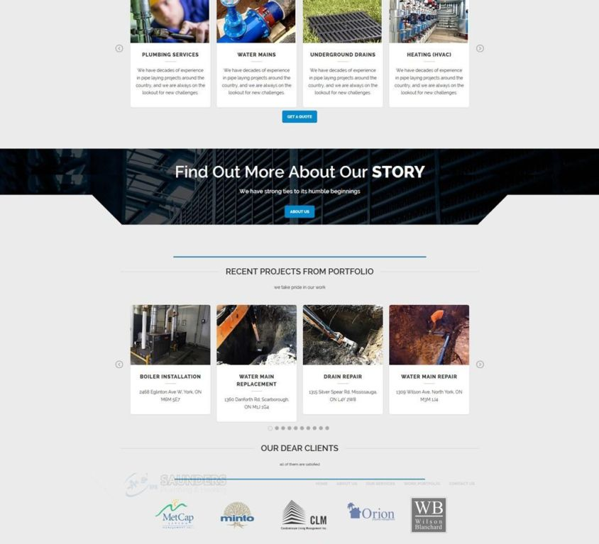 Saunders Plumbing Web Development